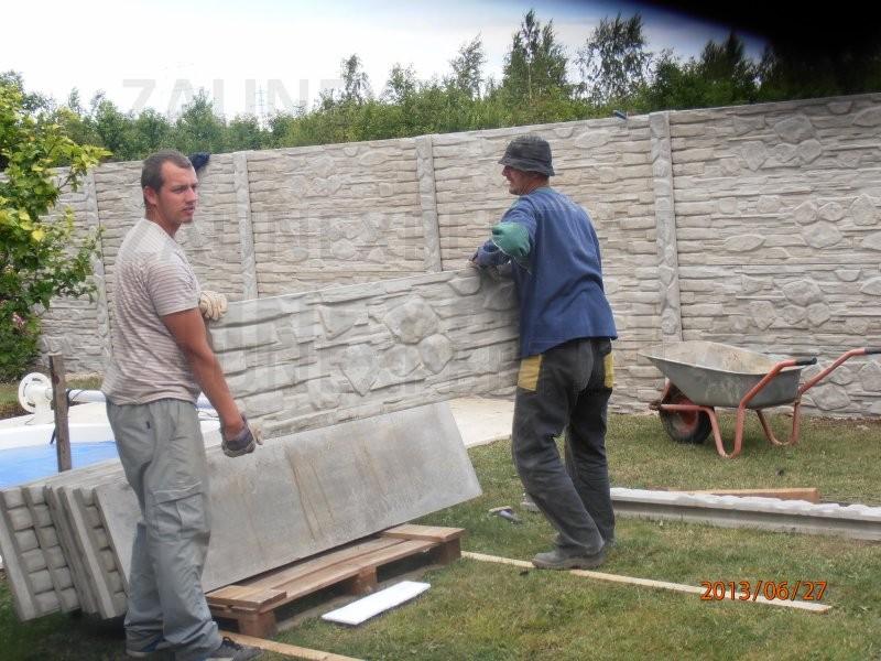 betonzaun alpenfels set 30 m h 200 cm b 200 cm aktion. Black Bedroom Furniture Sets. Home Design Ideas